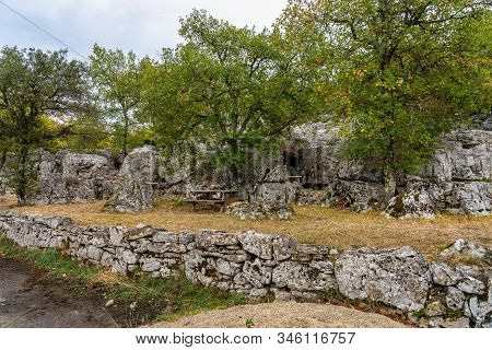 Old Ruins In Chassagnes In Ardeche, France