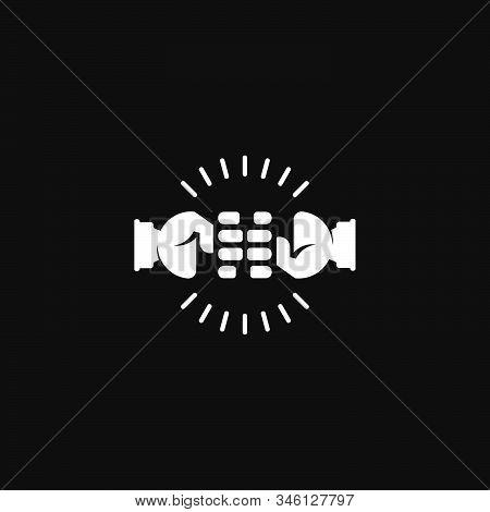 Symbol Logo Vector Of Clash Hand Fist Power Shine Flat Design