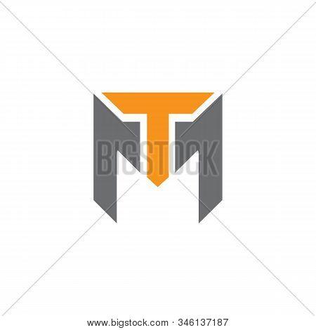 T M Tm Initial Logo Signature Vector. Handwriting Concept Logo.