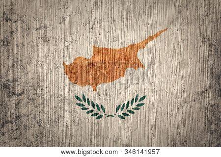 Grunge Cyprus Flag. Cyprus Flag With Grunge Texture.