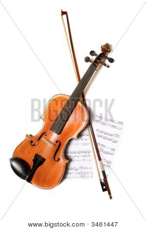 Violin, Bow And Music