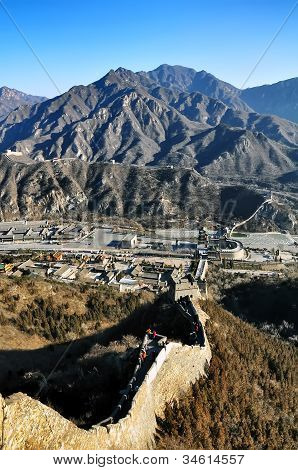 the unique great wall of china in asia.