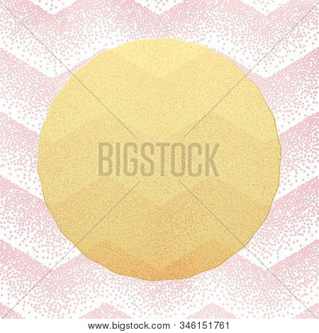 Greeting Card Template. Stipple Dots Confetti Pink Background. Eps 10
