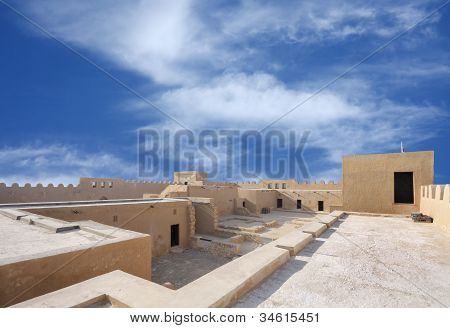 broad inside view of the southern portion of Riffa Fort Bahrain