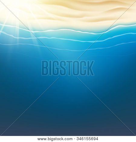 Summer Tropical Beach Poster. Eps 10 Vector File