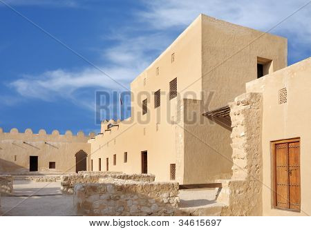 Inside view western portion of Riffa fort Bahrain
