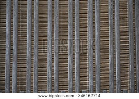 Japanese House Wall Patterns On The Background Wallpaper