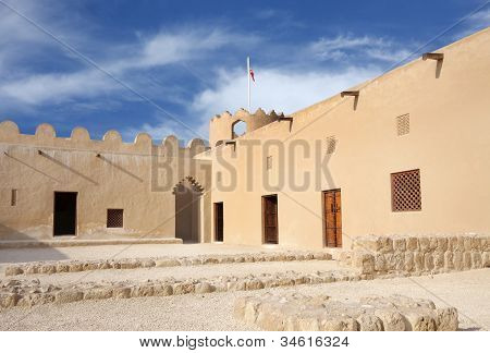 Western part of Riffa Fort Bahrain inside view