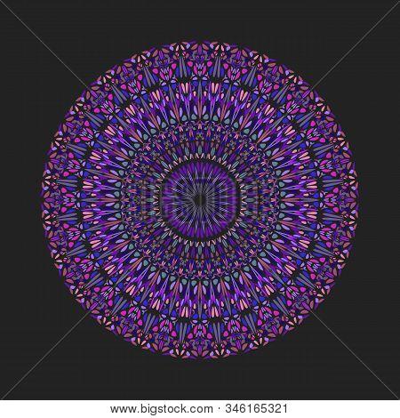 Colorful Round Circular Petal Pattern Mandala Art - Abstract Geometrical Ornamental Vector Design El