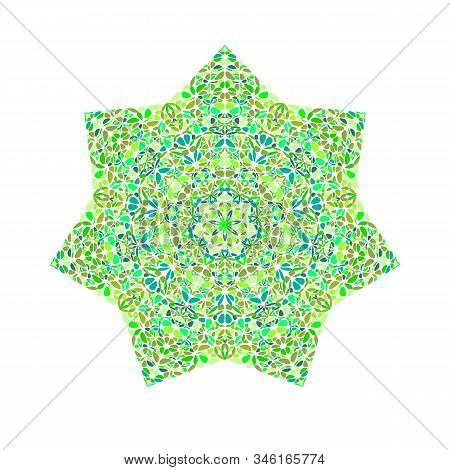 Abstract Flower Ornament Star Symbol - Colorful Ornamental Vector Element