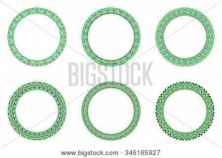 Geometrical Abstract Gravel Mosaic Frame Set - Circular Vector Elements