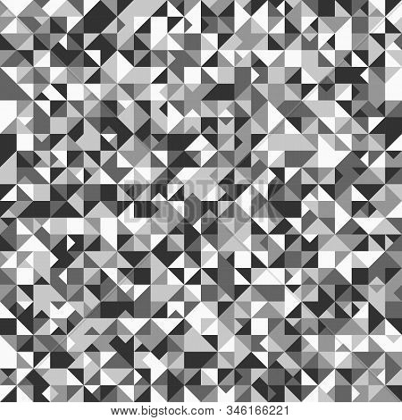 Polygonal Geometrical Triangle Pattern Background - Gray Vector Design