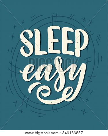 Lettering Slogan About Sleep And Good Night. Vector Illustration Design For Graphic, Prints, Poster,