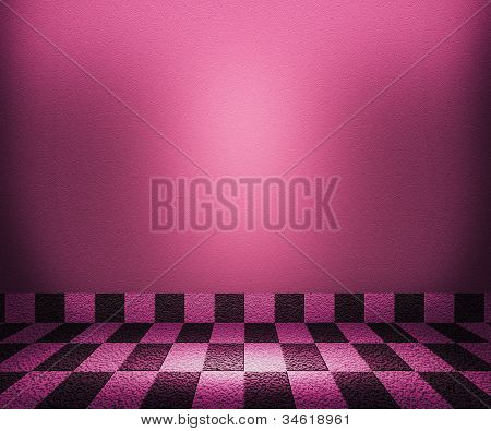 Violet Chessboard Mosaic Room Background
