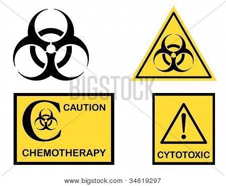 Biohazard Cytotoxic And Chemotherapy Symbols