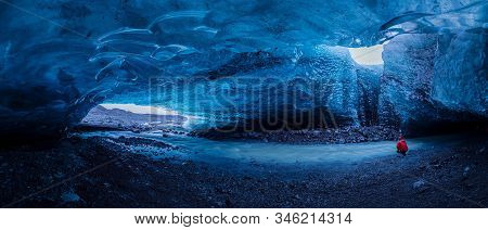 Ice Cave At Jokulsarlon Glacier In Iceland