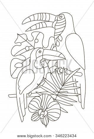 Hand Drawing Coloring Pages For Children And Adults. A Beautiful ... | 470x318