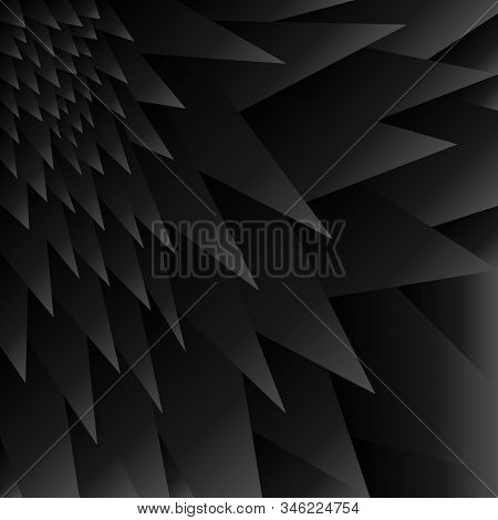 Black Background Prickle Vector Illustration Gradient Grey