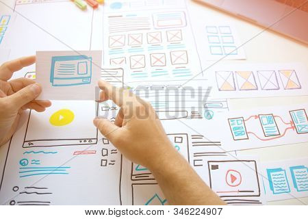 Website Young Designer Creative Planning Application  Draft Sketch Drawing Template Layout Framework