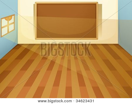 illustration of empty classroom on a white bakground