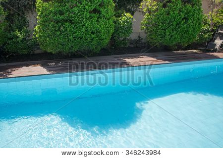 Swimming Pool Design At Modern Residence . Backyard Pool With Diving Board .beautiful Refreshing Cle