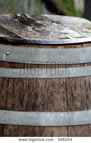 Raindrops On Oak Barrell
