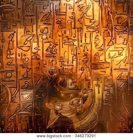 Ancient Egypt. Digital painting. 3D rendering