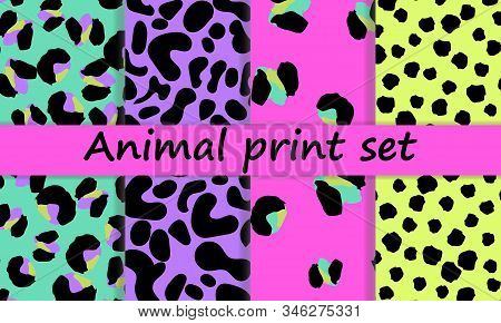 Leopard Print Design. Spotted Fur Texture. Panther Skin. Retro Fabric Pattern. Animal Print Leopard.
