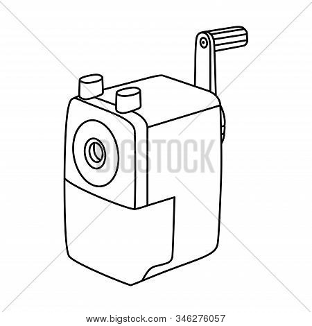 Automatic Pencil Sharpener Icon Line Symbol. Premium Quality Isolated Sharpen Element In Trendy Styl