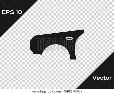 Grey Car Fender Icon Isolated On Transparent Background. Vector Illustration