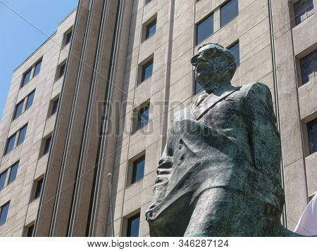 Santiago De Chile, Chile - January 26, 2018: Detail Of Onument To Chilean Statesman And Political Fi