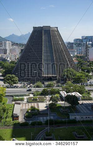 Rio De Janeiro, Brazil, May,04, 2017 - Metropolitan Cathedral Of The City Of Rio De Janeiro