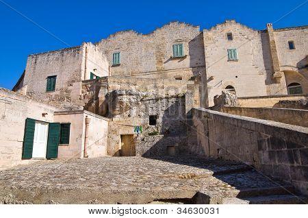 Alleyway. Matera. Basilicata. Italy.