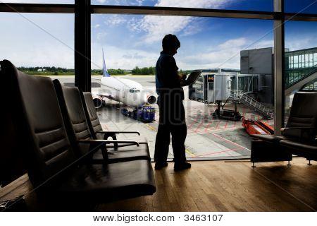 Flughafen terminal computer