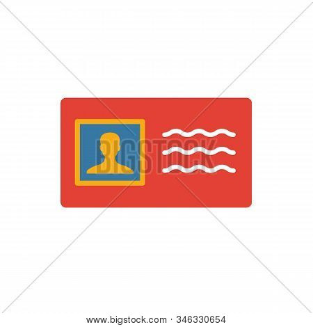 License To Work Icon. Flat Creative Element From Business Ethics Icons Collection. Colored License T
