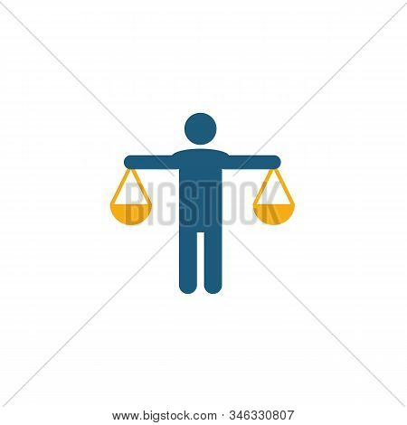 Honesty Icon. Flat Creative Element From Business Ethics Icons Collection. Colored Honesty Icon For