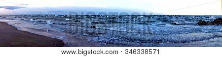 Panorama Cape Kolka, Baltic Sea, Famous Place In Latvia.