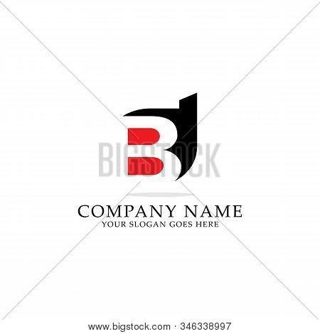 Bd Negative Space Logo Design, Bd Letter Name Logo Inspiration