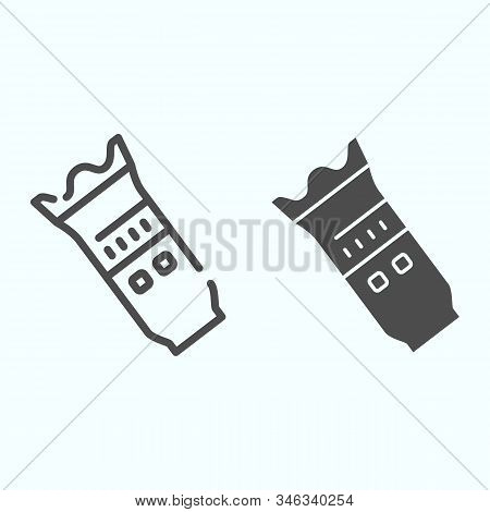 Modern Camera Lens Line And Solid Icon. Camera Objective Vector Illustration Isolated On White. Prof