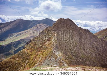 Dangerous Mountains - Steep And Narrow Path On A Ridge To Rocky Summit Of Rohacz Ostry