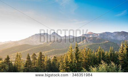 Warm Afternoon Light In Tatra Mountains - Giewont, Wielka Turnia, Czerwone Wierchy