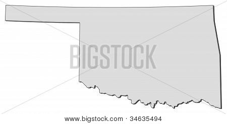 Map Of Oklahoma (united States)