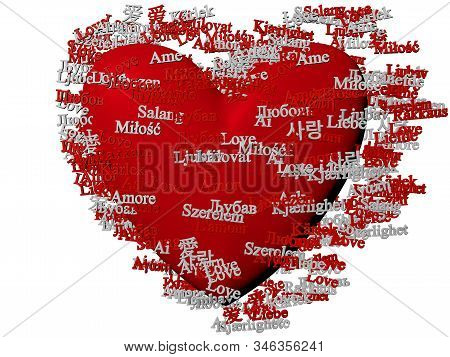 Cg Of Red Heart Figure And Red And White Words