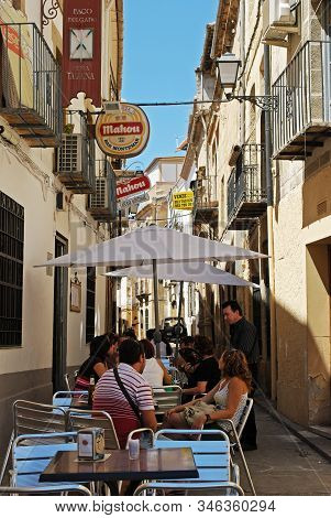 Ubeda, Spain - July 28, 2008 - Cafe In A Side Street Off The Plaza De Andalucia, Ubeda, Andalucia, S