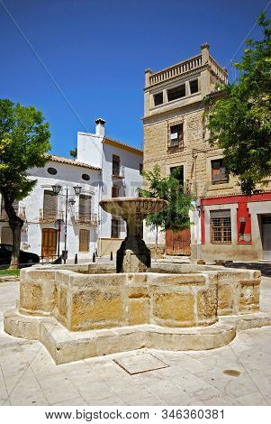 Ubeda, Spain - July 28, 2008 - Fountain In The Plaza San Pedro, Ubeda, Andalucia, Spain - July 28, 2