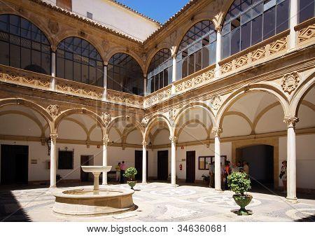 Ubeda, Spain - July 28, 2008 - Inner Courtyard Of The Town Hall, Palacio De Las Cadenas (chains Pala
