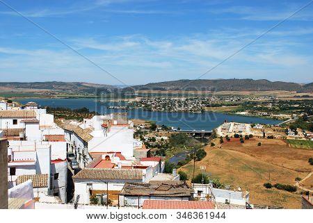 Arcos De La Frontera, Spain - August 01, 2008 - Elevated View Of The Town And Reservoir (embalse De