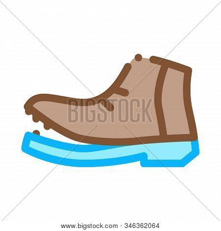 Shoe Torn Sole Icon Vector. Outline Shoe Torn Sole Sign. Isolated Contour Symbol Illustration