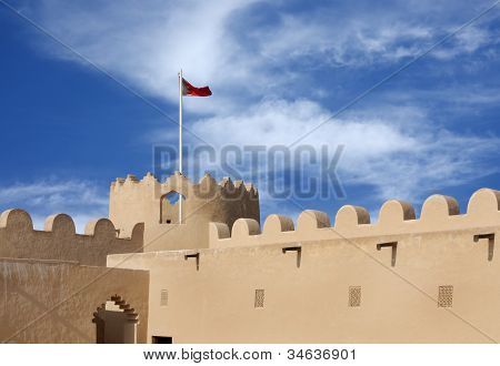 western tower from inside Riffa fort Bahrain