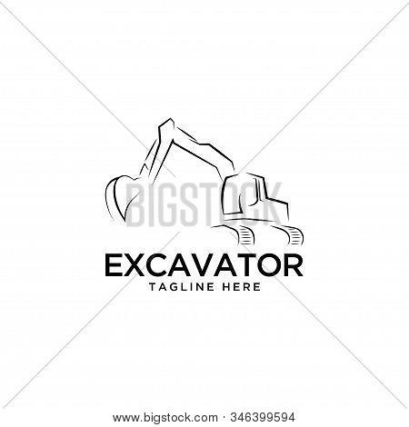 Excavator Symbol Logo Design Vector Template.construction Icon Company